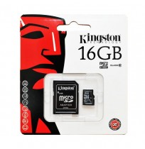 Thẻ nhớ MicroSDHC Kingston 16GB Class 10 with Adapter